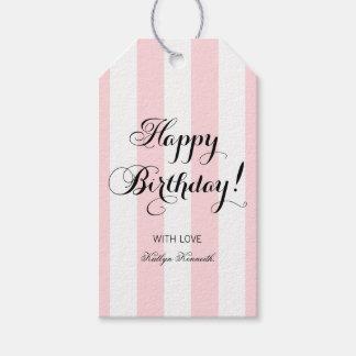 Étiquettes-cadeau Joyeux anniversaire élégant