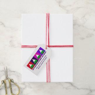 Étiquettes-cadeau Joyeux et lumineux arbre de Noël génial