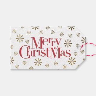 Étiquettes-cadeau Joyeux Noël avec des vacances de flocons de neige