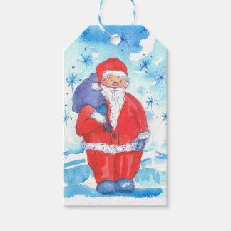Étiquettes-cadeau Joyeux Noël du père noël