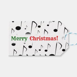 """Étiquettes-cadeau """"Joyeux Noël ! """" ; Motif de beaucoup de notes"""