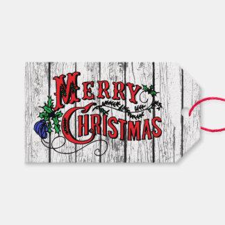 Étiquettes-cadeau Joyeux Noël patiné