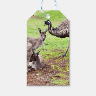Étiquettes-cadeau Kangaroo_And_Emu, _