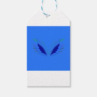 Étiquettes-cadeau La conception s'envole l'ethno bleu