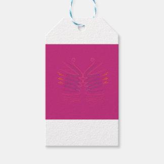 Étiquettes-cadeau La conception s'envole l'ethno rose