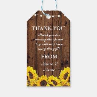 Étiquettes-cadeau La faveur de tournesols d'étiquette de Merci
