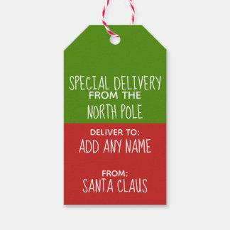 Étiquettes-cadeau La livraison spéciale du Pôle Nord et du père noël