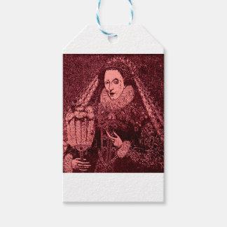 Étiquettes-cadeau La Reine Elizabeth I dans la copie rose