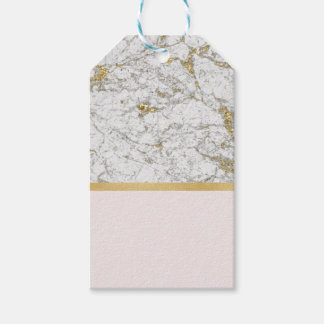 Étiquettes-cadeau La Riviera d'or rougissent marbre