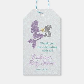 Étiquettes-cadeau La sirène que le baby shower vous remercient