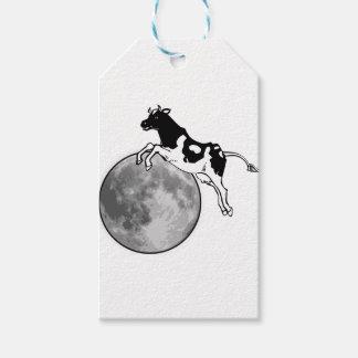 Étiquettes-cadeau La vache sautant par-dessus la lune