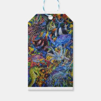 Étiquettes-cadeau Lagune de homard