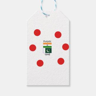 Étiquettes-cadeau Langue de Punjabi avec des drapeaux de l'Inde et