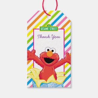 Étiquettes-cadeau L'anniversaire de la fille du Sesame Street   Elmo