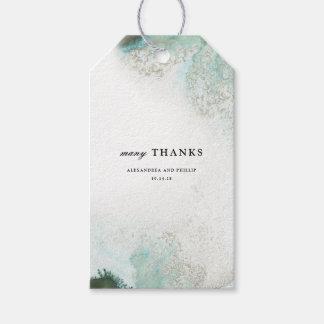 Étiquettes-cadeau Le cadeau de faveur de Merci d'aquarelle d'Ombre