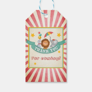 Étiquettes-cadeau Le cirque vous remercient de favoriser le cru de