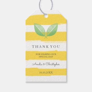Étiquettes-cadeau Le citron laisse jaune et verdit le Merci