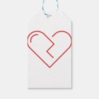Étiquettes-cadeau Le coeur brisé