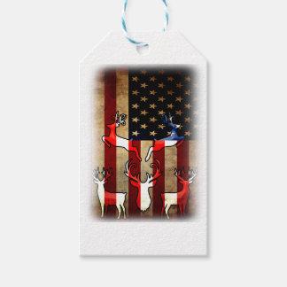 Étiquettes-cadeau Le dos de conscience de chasse, Etats-Unis