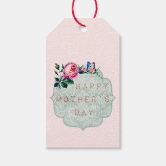 Étiquettes-cadeau Le jour de mère vintage