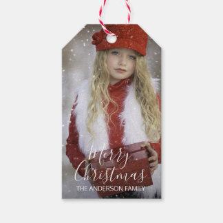 Étiquettes-cadeau Le Joyeux Noël personnalisé | ajoutent votre PHOTO