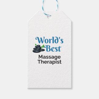 Étiquettes-cadeau Le meilleur thérapeute du massage du monde