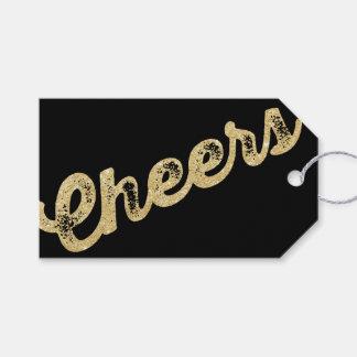 Étiquettes-cadeau Le scintillement d'or encourage l'étiquette de