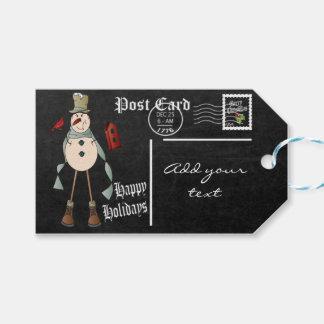 Étiquettes-cadeau Le tableau a dénommé Noël de la carte postale | de