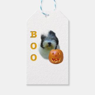 Étiquettes-cadeau Le vieux chien de berger anglais Halloween huent