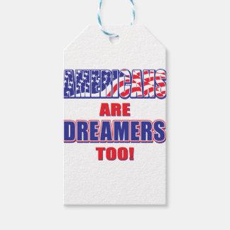 Étiquettes-cadeau Les Américains sont des rêveurs aussi !