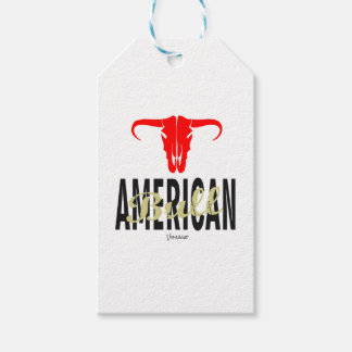Étiquettes-cadeau Les Etats-Unis américains Taureau par VIMAGO