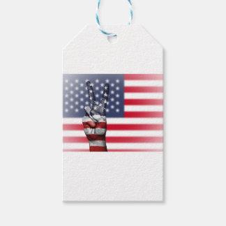 Étiquettes-cadeau Les Etats-Unis Etats-Unis nous nation de main de