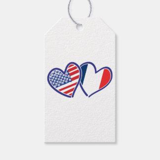 Étiquettes-cadeau LES Etats-Unis---France-Amour