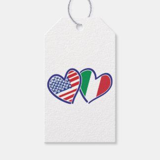 Étiquettes-cadeau LES Etats-Unis---Italie-Amour