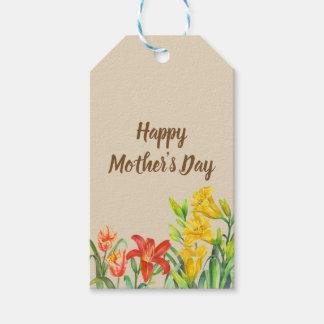 Étiquettes-cadeau L'été d'aquarelle fleurit le jour de mère
