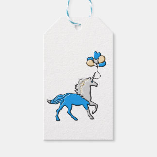 Étiquettes-cadeau Licorne bleue
