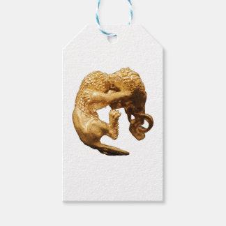 Étiquettes-cadeau Lion d'or