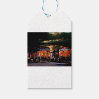 Étiquettes-cadeau Locomotives puissantes prêtes à transporter