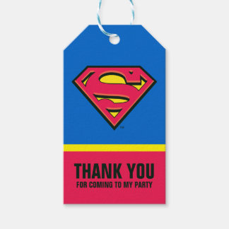 Étiquettes-cadeau Logo classique des bandes dessinées | Superman |