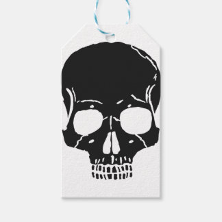Étiquettes-cadeau L'os de crâne désosse éffrayant déplaisant