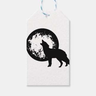 Étiquettes-cadeau Loup hurlant à la lune