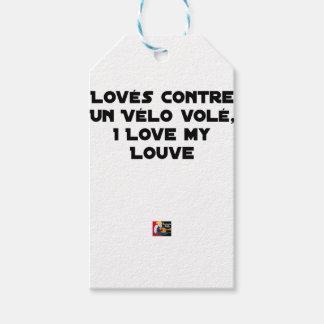 Étiquettes-cadeau Lové contre un Vélo Volé, I Love my Louve