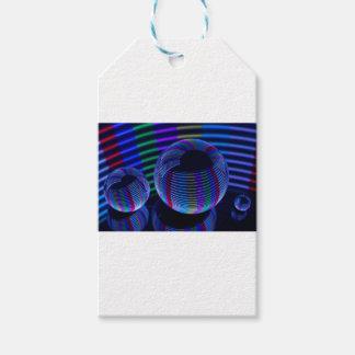 Étiquettes-cadeau Lumières en spirale dans le cristal