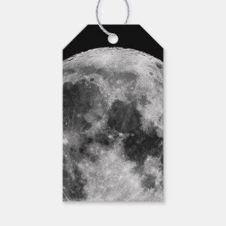 Étiquettes-cadeau Lune blanche