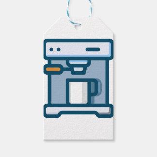 Étiquettes-cadeau Machine de cappuccino