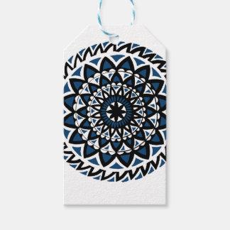 Étiquettes-cadeau Magie bleue du mandala d'Arnaba