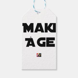 Étiquettes-cadeau MAKI ÂGE - Jeux de mots - Francois Ville