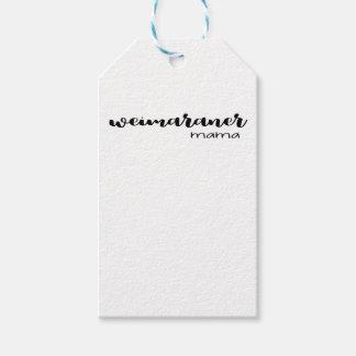 Étiquettes-cadeau Maman de Weimaraner