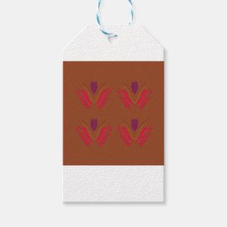 Étiquettes-cadeau Mandala de conception :  rouge sur des tons de la