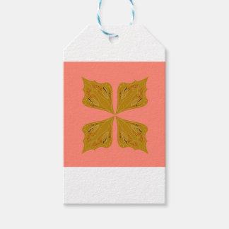 Étiquettes-cadeau Mandala de conception sur le rose